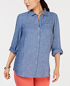 Charter Club Linen Button-Front Shirt, Created for Macy's