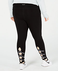 Calvin Klein Performance Plus Size Lattice Ankle Leggings