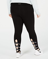 3d227c0a714b4 Calvin Klein Performance Plus Size Lattice Ankle Leggings