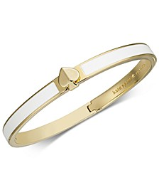 Gold-Tone & Colored Enamel Spade Bangle Bracelet