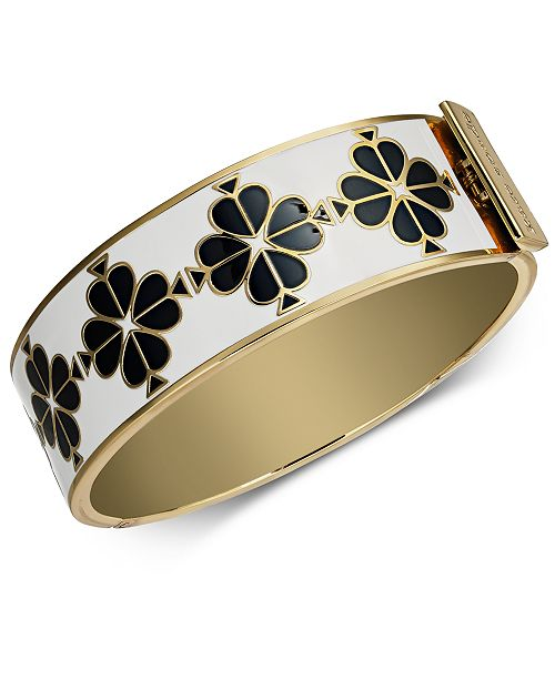 0af35ac2bb6 kate spade new york Gold-Tone Enamel Flower Bangle Bracelet ...