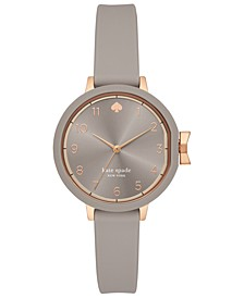 Women's Park Row Gray Silicone Strap Watch 34mm