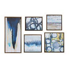 Madison Park Blue Bliss Gallery Art, Set of 5