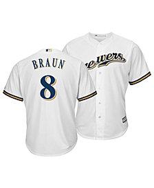 Majestic Men's Ryan Braun Milwaukee Brewers Player Replica Cool Base Jersey