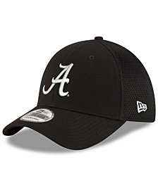 New Era Alabama Crimson Tide Black White Neo 39THIRTY Cap