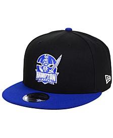 Hampton Pirates Black Team Color 9FIFTY Snapback Cap