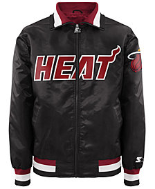 G-III Sports Men's Miami Heat Starter Captain II Satin Jacket