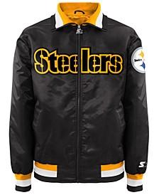 Men's Pittsburgh Steelers Starter Captain II Satin Jacket