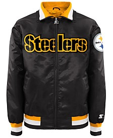 G-III Sports Men's Pittsburgh Steelers Starter Captain II Satin Jacket