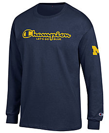 Champion Men's Michigan Wolverines Co-Branded Long Sleeve T-Shirt
