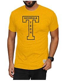 Retro Brand Men's Georgia-Tech Mock Twist Vault Logo T-Shirt