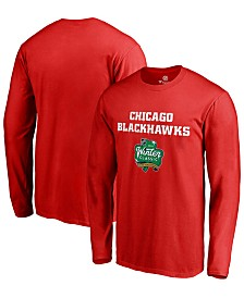 Authentic NHL Apparel Men's Chicago Blackhawks Winter Classic Prime Logo Long Sleeve T-Shirt