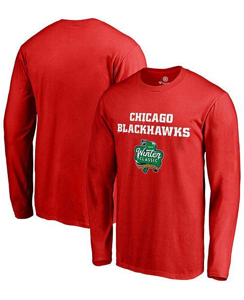 sale retailer 8e302 3e163 Authentic NHL Apparel Men s Chicago Blackhawks Winter Classic Prime Logo  Long Sleeve T- ...