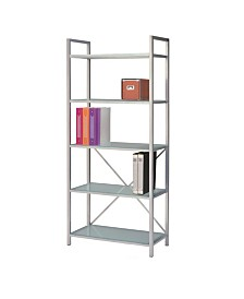 New Spec Bookshelf Glass and Metal Frame