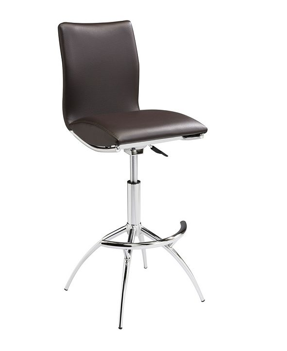 New Spec Inc Modern Leatherette Adjustable Bar Stools