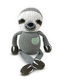 finn + emma 100% Organic Sloth Rattle Buddy Knit Doll