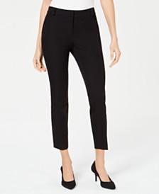 Alfani Petite Bi-Stretch Slim-Leg Pants, Created for Macy's