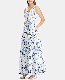 Lauren Ralph Lauren Floral-Print Fit & Flare Gown