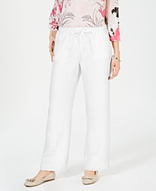 Petite Linen Drawstring Pants, Created for Macy's