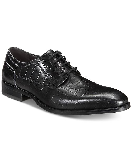 INC International Concepts I.N.C. Men's Hyde Textured Lace-Ups, Created for Macy's