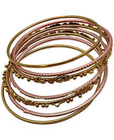 GUESS Two-Tone 7-Pc. Set Bangle Bracelets