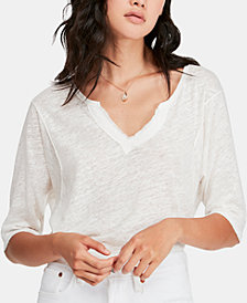 Free People Head In The Clouds V-Neck Top