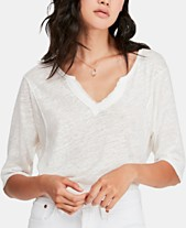 0bee6cd0533a2 Free People Head In The Clouds V-Neck Top
