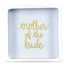 Stripe Mother of the Bride Square Trinket Bowl