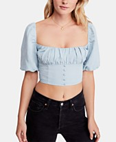 2bea868d211f17 Free People Cropped Eloise Blouson Top
