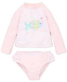 Little Me Fish 2-Pc. Baby Girls Rashguard