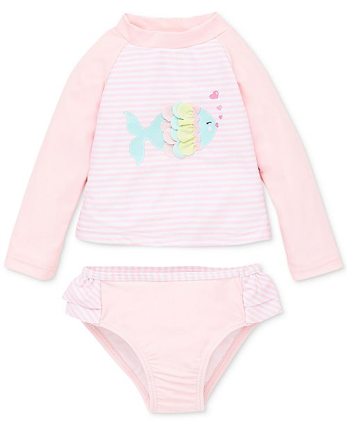 b2cc8eb90 Little Me Fish 2-Pc. Baby Girls Rashguard & Reviews - Swimwear ...