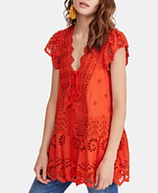 Free People Cotton Esperanza Eyelet Top