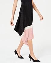 73ad56cfa96 Alfani Asymmetric Pleated Colorblock Skirt