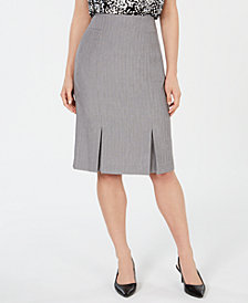Kasper Pleated Skirt