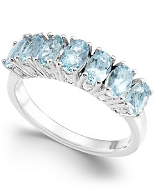Aquamarine (1-3/4 ct. t.w.) Statement Ring in Sterling Silver