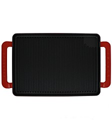 "French Enameled Cast Iron 14"" Rectangular Grill"