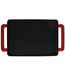 "Chasseur French Enameled Cast Iron 14"" Rectangular Grill"