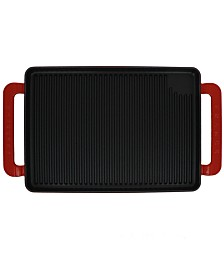 """Chasseur French Enameled Cast Iron 14"""" Rectangular Grill"""