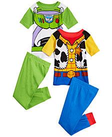 Disney Toddler Boys 4-Pc. Toy Story Cotton Pajama Set