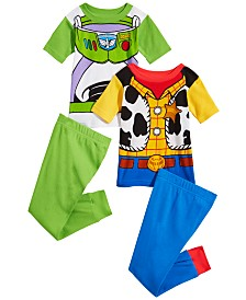Disney Toddler Boys 4-Pc. Toy Story Cotton Pajama Set