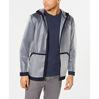 Alfani Men's Transparent Bomber Jacket (Bright White)