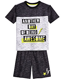 Max & Olivia Big Boys 2-Pc. Awesome Pajama Set