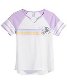 Max & Olivia Big Girls Graphic-Print Pajama Top, Created for Macy's