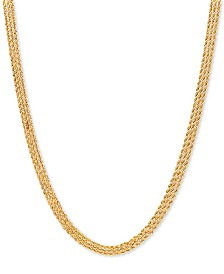 "Diamond Accent Triple Rope 17"" Chain Necklace in 14k Gold"