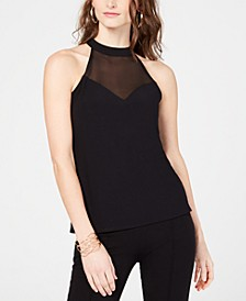 INC Petite Illusion Halter Top, Created for Macy's