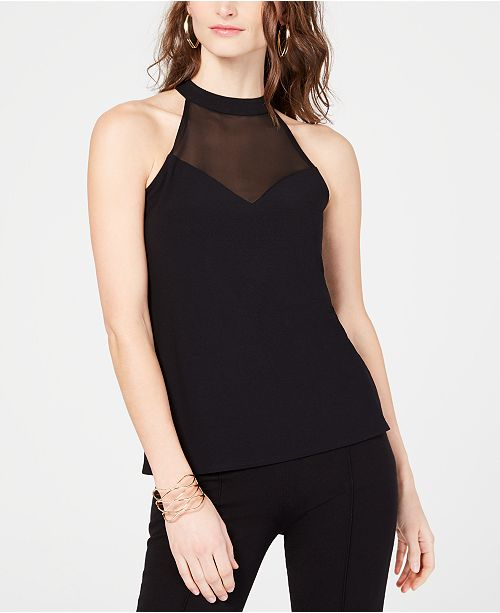 INC International Concepts INC Petite Illusion Halter Top, Created for Macy's