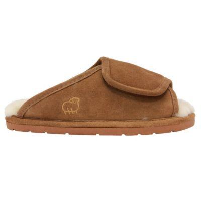 Women/'s Lamo 100/% Sheepskin Bootie Wrap Suede Slippers Shoes