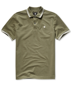 G-Star Raw Tops G-STAR RAW MEN'S DUNDA STRAIGHT-FIT PERFORMANCE STRETCH TIPPED POLO