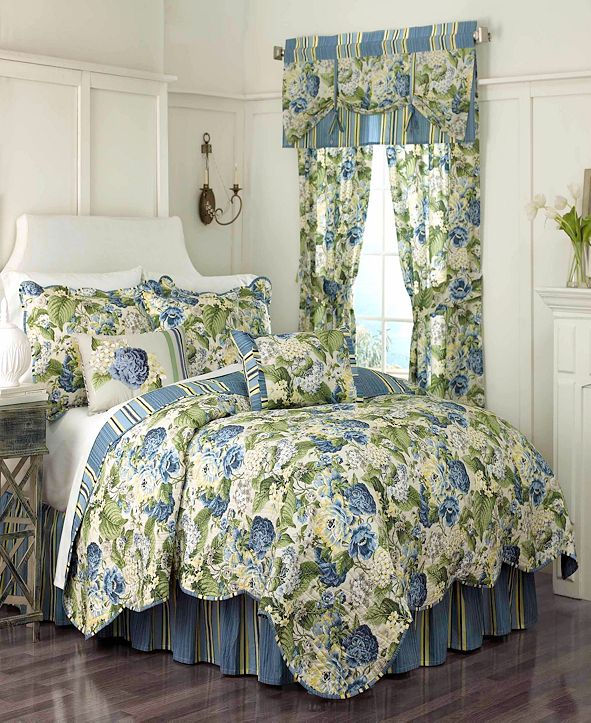 Ellery Homestyles Floral Flourish 3-piece Twin Quilt Set