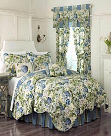 Floral Flourish 4-piece Full/Queen Quilt Set